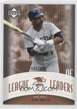 2005 Upper Deck Classics [???] #LL-JR - Jim Rice /999