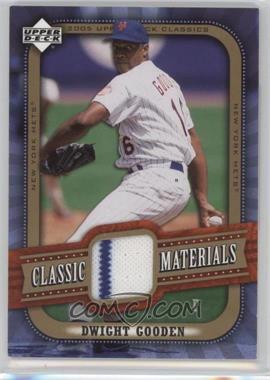 2005 Upper Deck Classics Classic Materials #MA-DG - Dwight Gooden