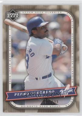2005 Upper Deck Classics Gold #74 - Pedro Guerrero /199