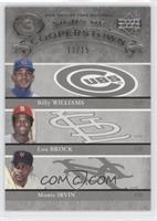 Billy Williams, Lou Brock, Monte Irvin /15