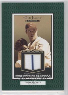 2005 Upper Deck Origins - Old Judge Materials #OJ-GM - Greg Maddux