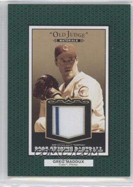 2005 Upper Deck Origins Old Judge Materials #OJ-GM - Greg Maddux