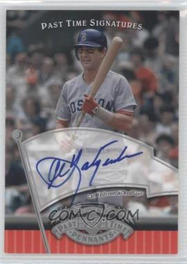 2005 Upper Deck Past Time Pennants - Past Time Signatures - Silver #CY - Carl Yastrzemski