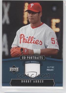 2005 Upper Deck Portraits Blue Jersey [Memorabilia] #73 - Bobby Abreu /25