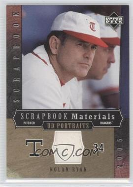 2005 Upper Deck Portraits Scrapbook Materials #SM-34 - Nolan Ryan
