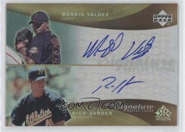 2005 Upper Deck Reflections Dual Signature Reflections #MVRH - [Missing]