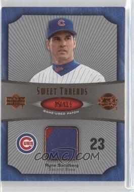 2005 Upper Deck Sweet Spot - Sweet Threads - Patch #ST-RS - Ryne Sandberg /35
