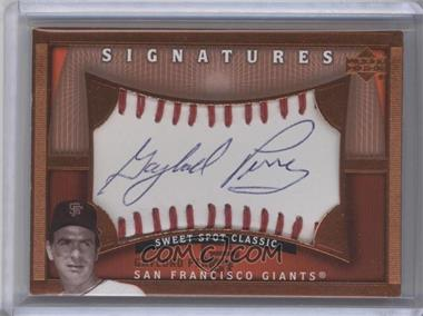 2005 Upper Deck Sweet Spot Classic Sweet Spot Signatures #GP - Gaylord Perry
