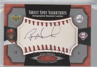 2005 Upper Deck Sweet Spot Sweet Spot Signatures Red Stitched Black Ink #SS-HO - Ryan Howard /350