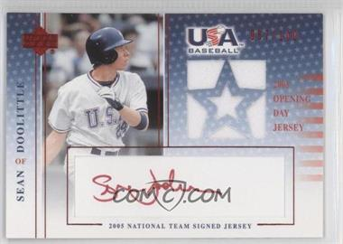 2005 Upper Deck USA Baseball - National Team Signed Jersey - Red Ink #SD-GU - Sean Doolittle /100