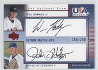 Jonathon Niese, Wes Hodges, Jonah Nickerson /250