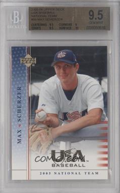 2005 Upper Deck USA Baseball [???] #USA56 - Max Scherzer [BGS9.5]