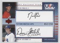 David Price, Drew Stubbs /250