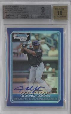 2006 Bowman Chrome - Prospects - Blue Refractor #BC223 - Justin Upton /150 [BGS 9]