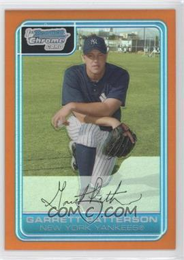 2006 Bowman Chrome - Prospects - Orange Refractor #BC133 - Garrett Patterson /25