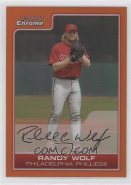 2006 Bowman Chrome Orange Refractor #29 - Randy Wolf /25
