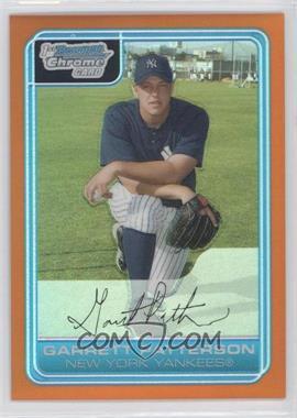 2006 Bowman Chrome Prospects Orange Refractor #BC133 - Gary Patchett /25