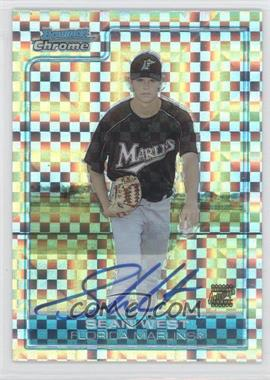 2006 Bowman Chrome Prospects X-Fractor #BC224 - Sean West /225
