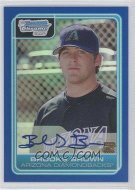 2006 Bowman Draft Picks & Prospects - Chrome Draft Picks - Blue Refractor #DP73 - Brooks Brown /150