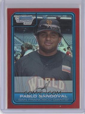 2006 Bowman Draft Picks & Prospects - Chrome Futures Game - Red Refractor #FG6 - Pablo Sandoval /5