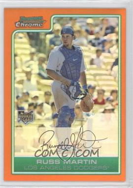 2006 Bowman Draft Picks & Prospects Chrome Orange Refractor #BDP13 - Russell Martin /25
