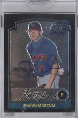 2006 Bowman Originals Buyback Autographs #80 - Shaun Marcum /153