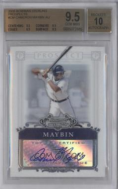 2006 Bowman Sterling - Prospect Certified Autographs - [Autographed] #BSP-CM - Cameron Maybin [BGS 9.5]