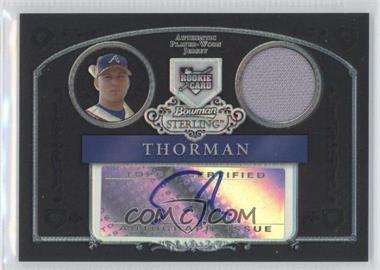 2006 Bowman Sterling Black Refractor Uncirculated #BS-ST - Scott Thorman /25