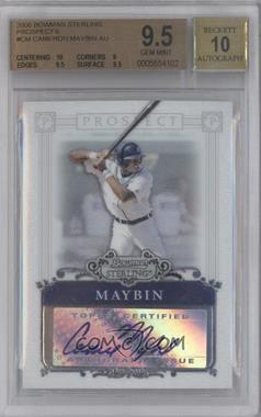 2006 Bowman Sterling Prospect Certified Autographs [Autographed] #BSP-CM - Cameron Maybin [BGS 9.5]