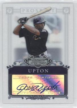 2006 Bowman Sterling Prospect Certified Autographs [Autographed] #BSP-JU - Justin Upton