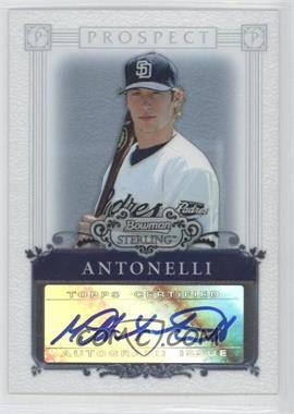2006 Bowman Sterling Prospect Certified Autographs [Autographed] #BSP-MAA - Matt Antonelli