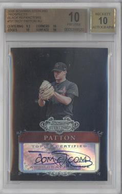 2006 Bowman Sterling Prospects Black Refractor Uncirculated #BSP-TP - Troy Patton /25 [BGS 10]