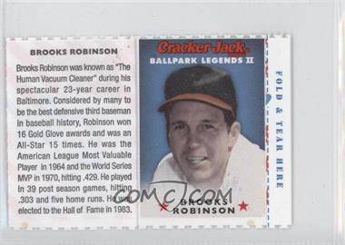 2006 Cracker Jack Ballpark Legends II Food Issue [Base] #N/A - Brooks Robinson