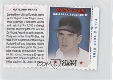 2006 Cracker Jack Ballpark Legends II Food Issue [Base] #N/A - Gaylord Perry