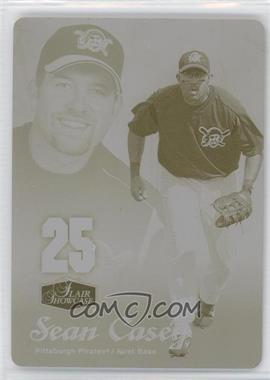 2006 Flair Showcase - [Base] - Printing Plate Yellow #198 - Sean Casey /1