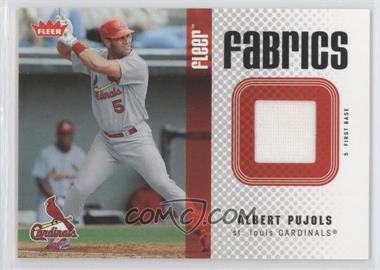 2006 Fleer - Fabrics #FF-AP - Albert Pujols