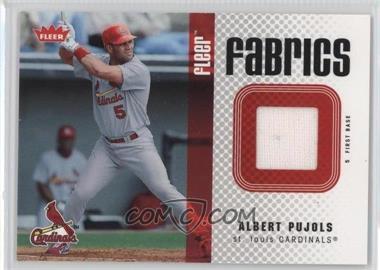 2006 Fleer Fabrics #FF-AP - Albert Pujols