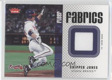 2006 Fleer Fabrics #FF-CJ - Chipper Jones