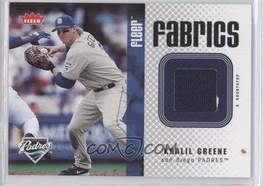 2006 Fleer Fabrics #FF-GR - Khalil Greene