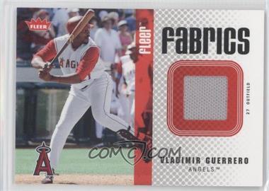 2006 Fleer Fabrics #FF-VG - Vladimir Guerrero