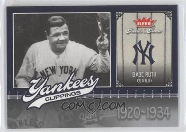 2006 Fleer Greats of the Game - Yankees Clippings #NYY-BR - Babe Ruth