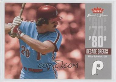 2006 Fleer Greats of the Game Decade Greats #DEC-MS - Mike Schmidt