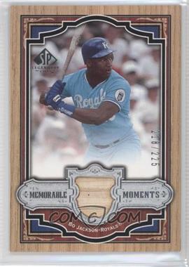 2006 SP Legendary Cuts Memorable Moments Swatch [Memorabilia] #MM-BJ - Bo Jackson /225