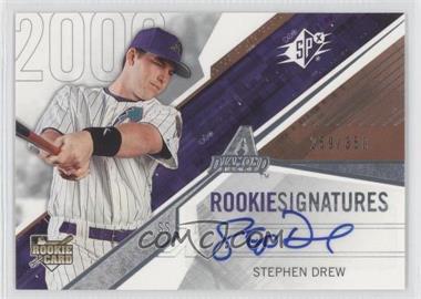 2006 SPx - [Base] #107 - Rookie Signatures - Stephen Drew /350
