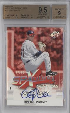 2006 SPx - SPXciting Signatures #XS-CL - Cliff Lee /30 [BGS9.5]
