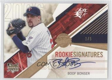2006 SPx Rookie Signatures Spectrum #152 - Boof Bonser /5
