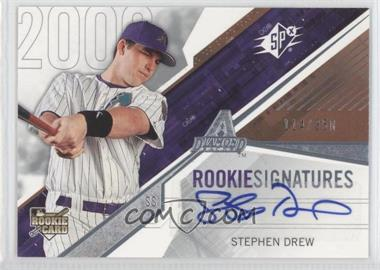 2006 SPx #107 - Rookie Signatures - Stephen Drew /350