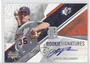 2006 SPx #113 - Rookie Signatures - Justin Verlander /749