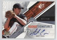 Rookie Signatures - Matt Cain /999