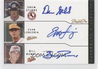 Drew Stubbs, Evan Longoria, Billy Rowell /5